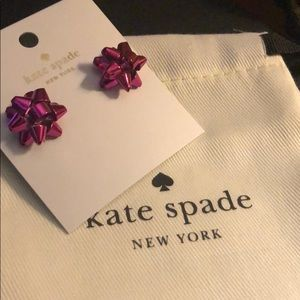 Kate Spade Bourgeois Bow Pink Earrings
